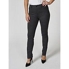 MarlaWynne Printed Ponte Slim Leg Trousers