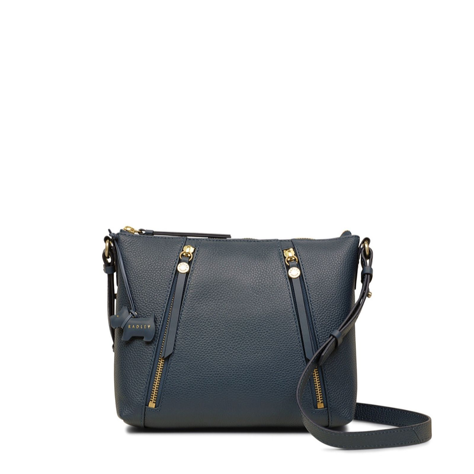 66573de7a5 Radley London Fountain Road Small Leather Zip Top Crossbody Bag - QVC UK