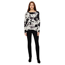 Phase Eight Dawne Daisy Print Knitted Top