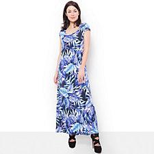 Kim & Co Exotic Jungle Brazil Knit Maxi Dress