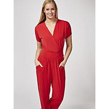 158374 - Kim & Co Brazil Jersey Falling Sleeve Jumpsuit With Pockets Regular