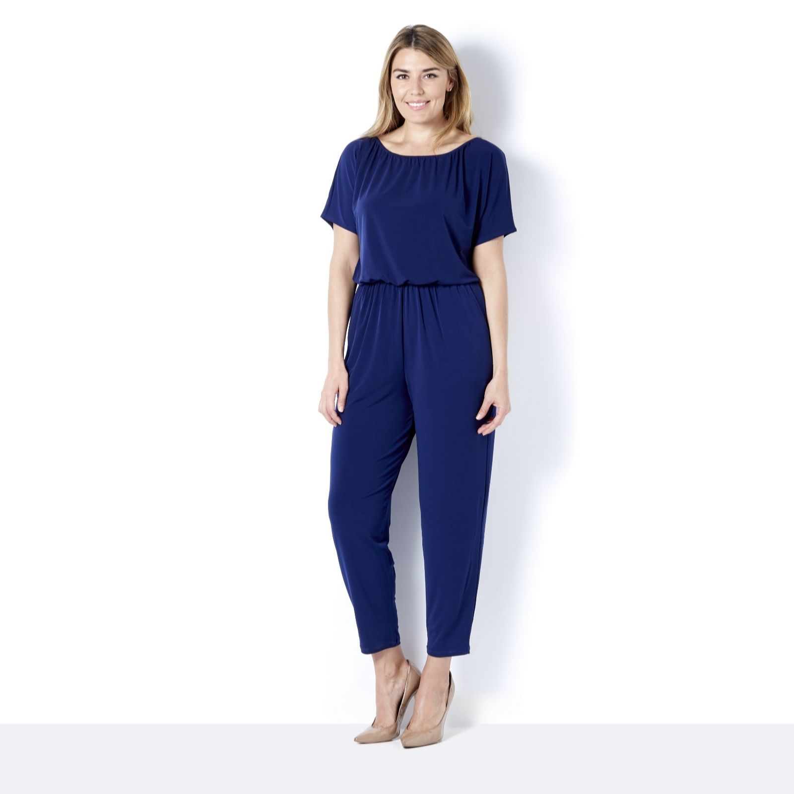 d8c54977121 Kim   Co Brazil Jersey Dolman Sleeve Jumpsuit Petite - QVC UK