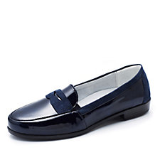 Vitaform Stretch Patent Leather & Velvet Goat Loafer