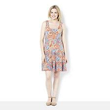 Coco Bianco Sleeveless Tiered Ruffle Hem Jersey Dress