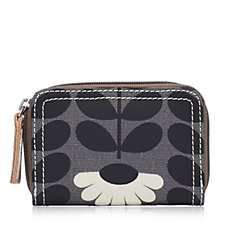 Orla Kiely Wild Daisy & Linear Stem Small Zip Wallet