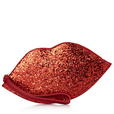 Lulu Guinness Glitter Lip Coin Wristlet