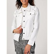 Nick Verreos Twill Utility Jacket with Embellished Front Yoke