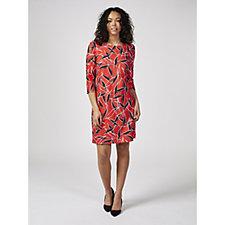 Betty & Co Abtract Leaf Print Dress
