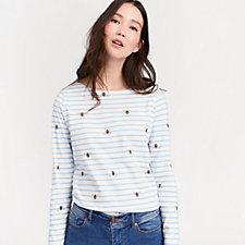 Joules 3/4 Sleeve Jersey Printed Harbour Top
