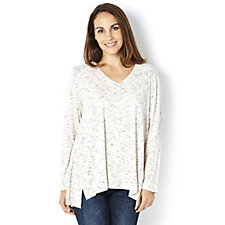 MarlaWynne V Neck Butterfly Textured Jersey Top