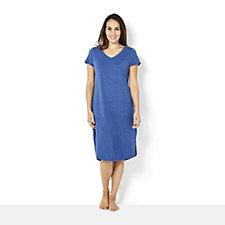 C. Wonder Curved V Neck Petite Midi Dress