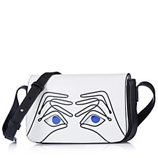 Lulu Guinness Rene Binocs Patent PU Crossbody Bag