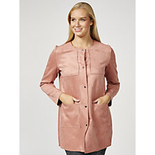 Betty & Co Faux Suede Coat