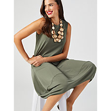 MarlaWynne Luxe Crepe Pocket Detail Sleeveless Dress