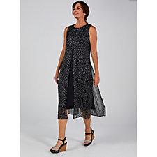 Together Chiffon Overlay Jersey Dress