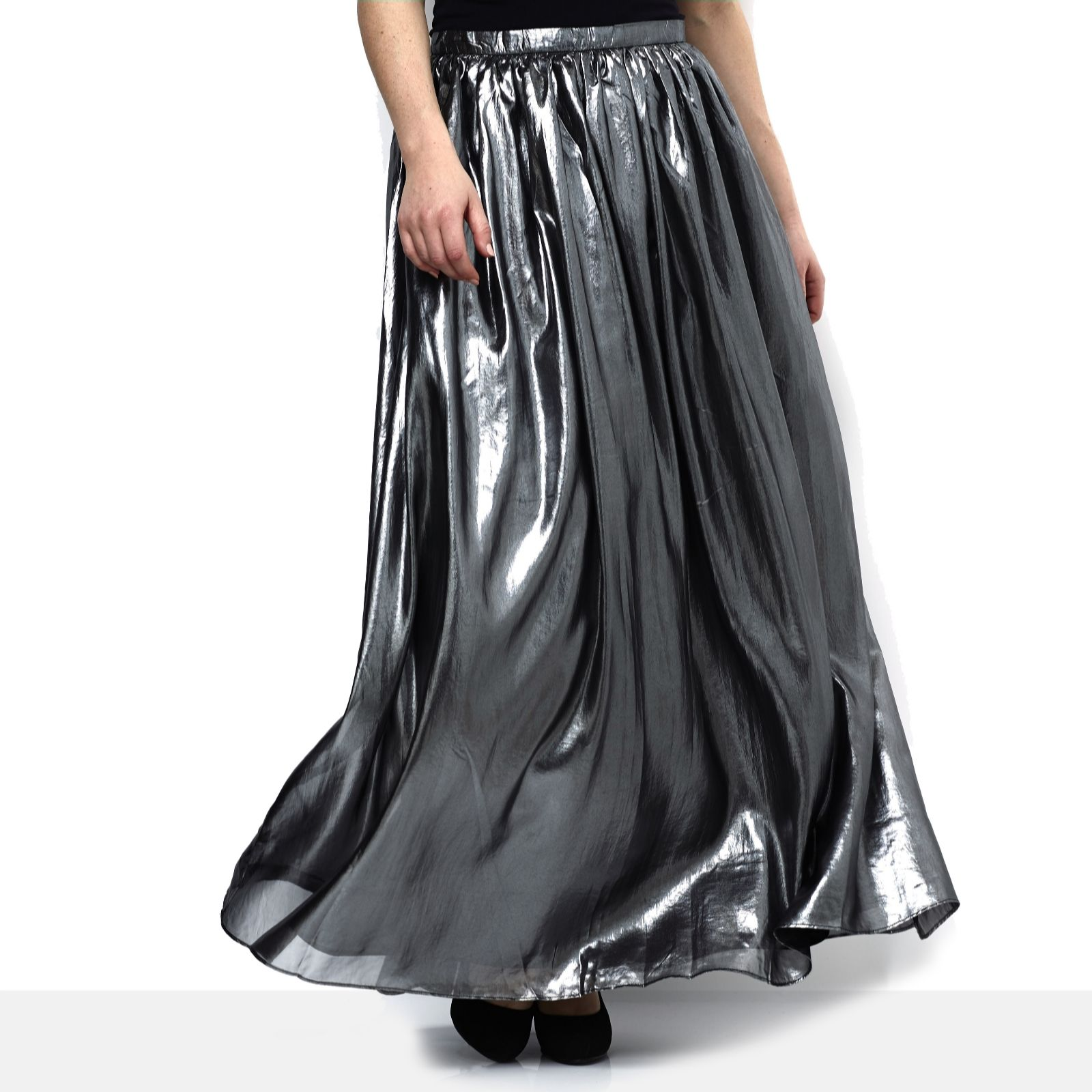 869fd74f90 Label Lab Metallic Maxi Skirt - QVC UK
