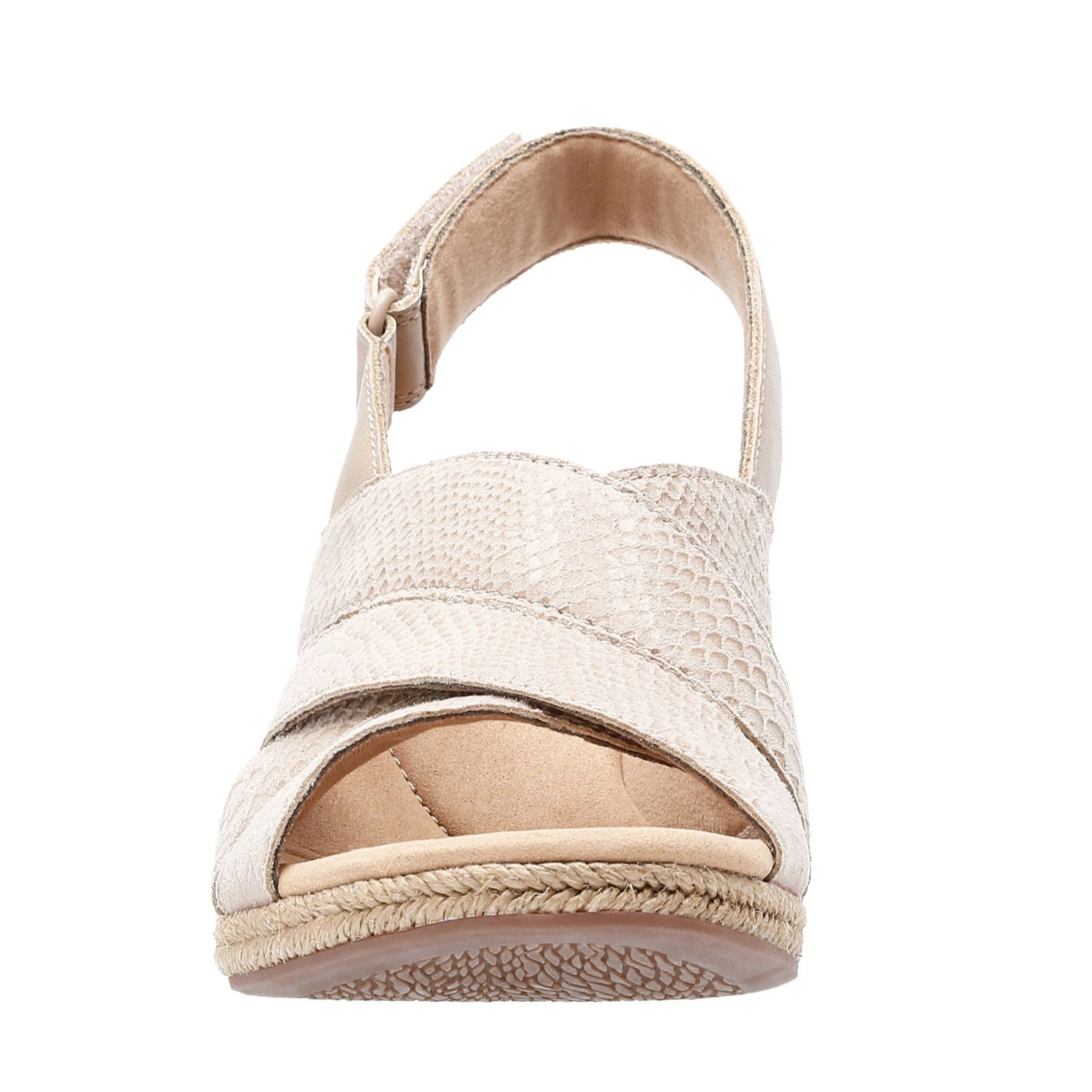 3bc21aa037df Clarks Lafely Krissy Wedge Sandal Standard Fit - QVC UK