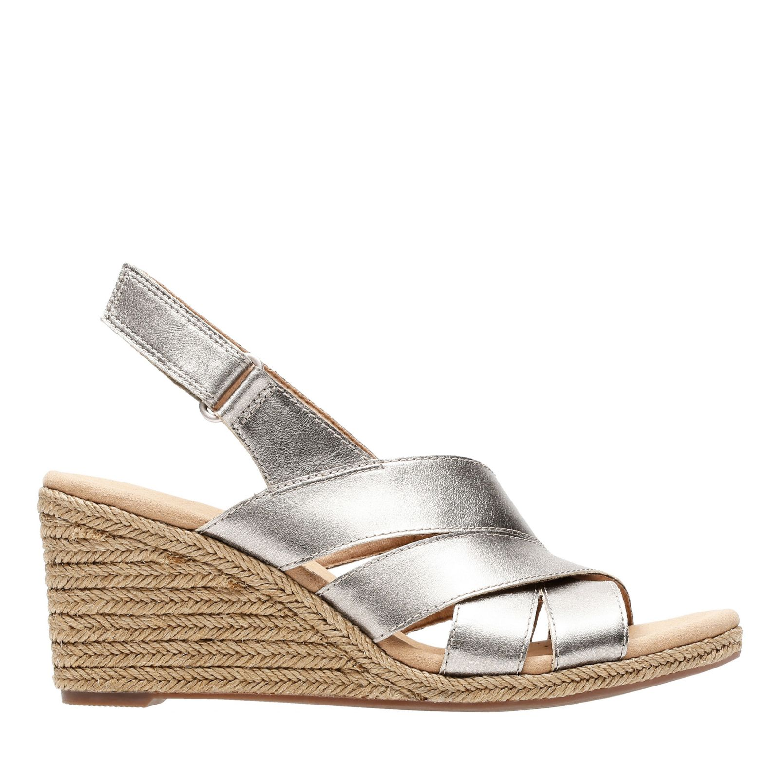 Clarks Lafely Krissy Wedge Sandal Standard Fit - QVC UK
