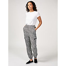 Nick Verreos Printed Relaxed Fit Joggers with Pockets
