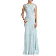 Ghost London Taylor Satin Maxi Dress with Tie Back
