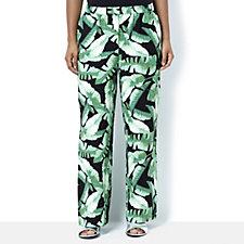 C. Wonder Printed Full Leg Pull On Trousers Petite