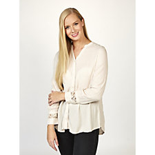Together Lace Detail  Crinkle Shirt