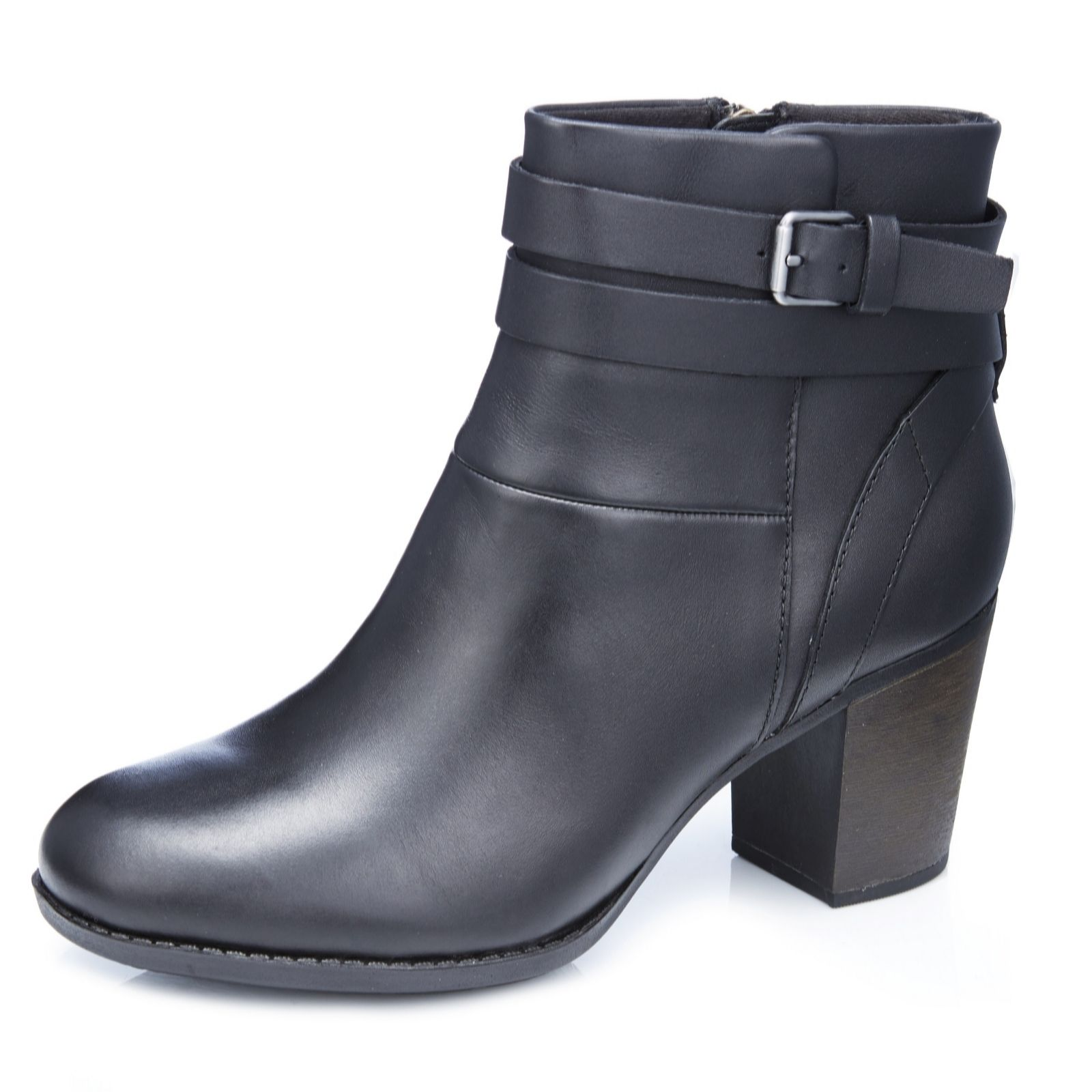 153432da90f Clarks Enfield River Ankle Boot with Buckle Detail Standard Fit - QVC UK