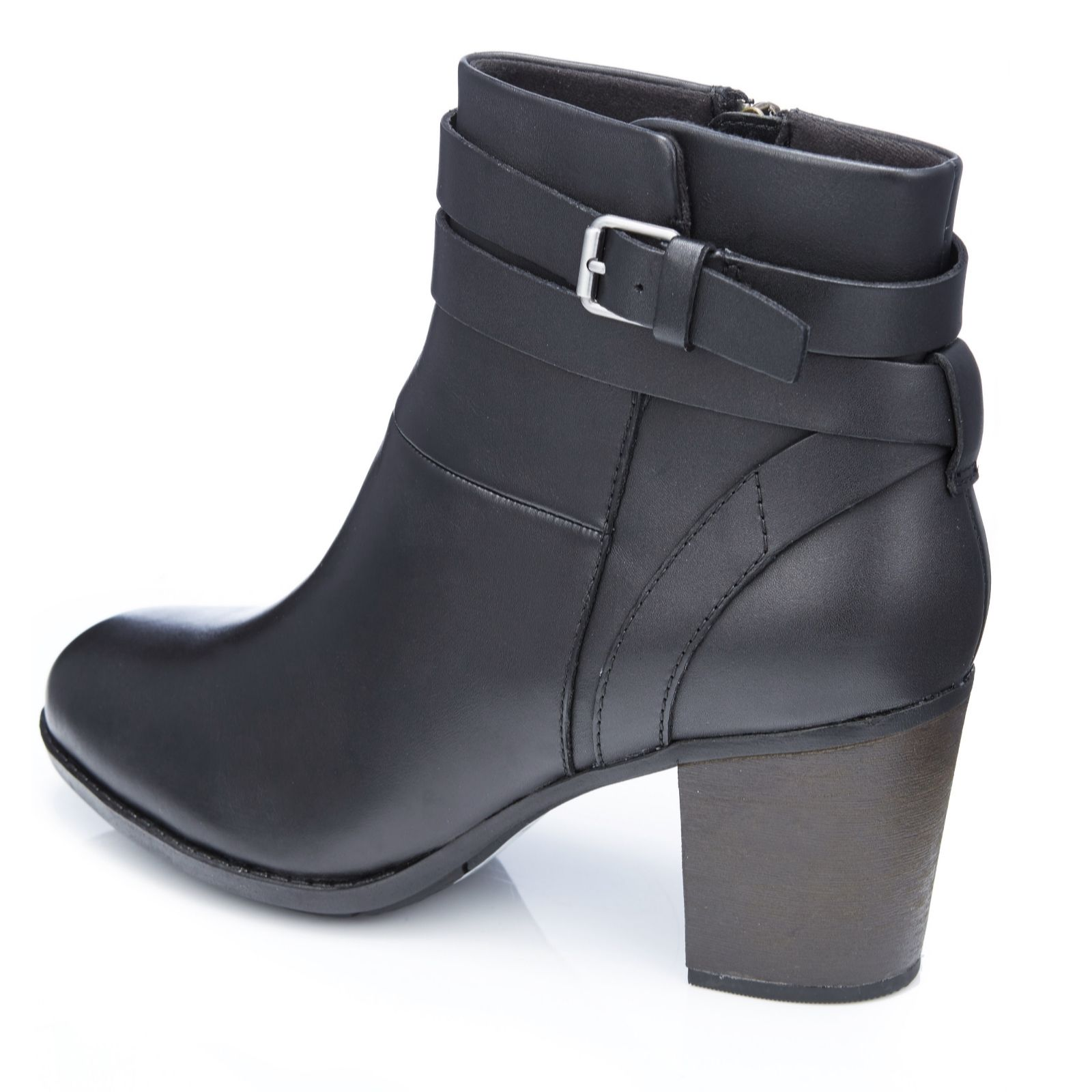 08a6629db7 Clarks Enfield River Ankle Boot with Buckle Detail Standard Fit - QVC UK