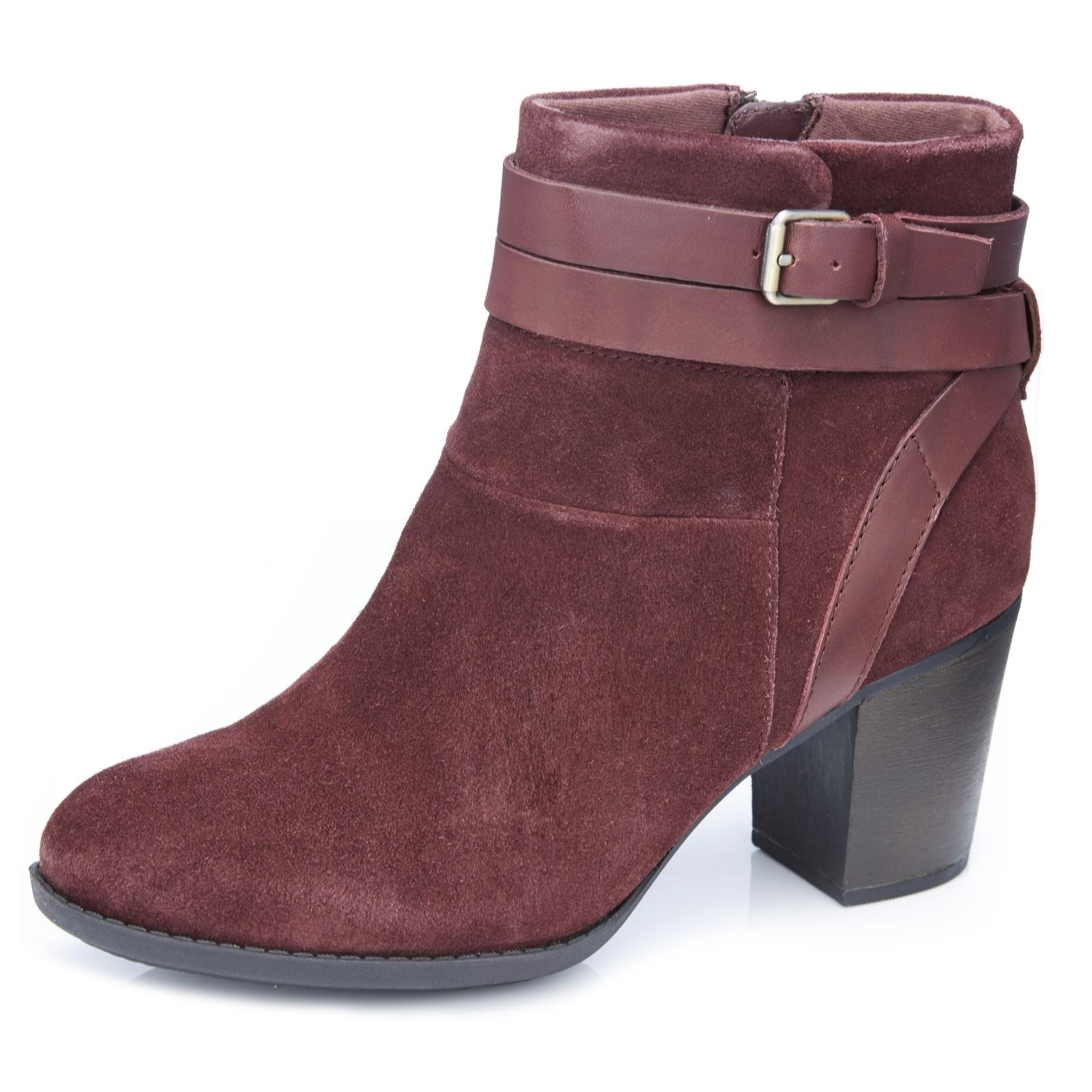 a0cfba75c2c Clarks Enfield River Ankle Boot with Buckle Detail Standard Fit - QVC UK