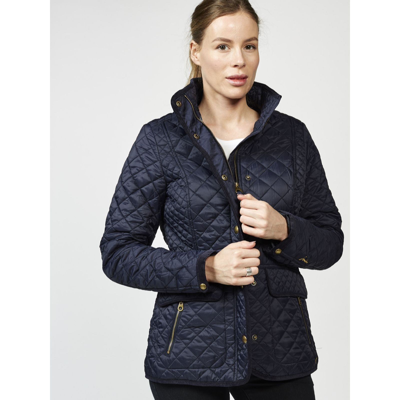 3e44503771d3 Joules Newdale Quilted Coat - QVC UK