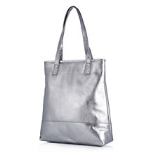 Amanda Lamb Leather Shopper Bag with Magnetic Closure