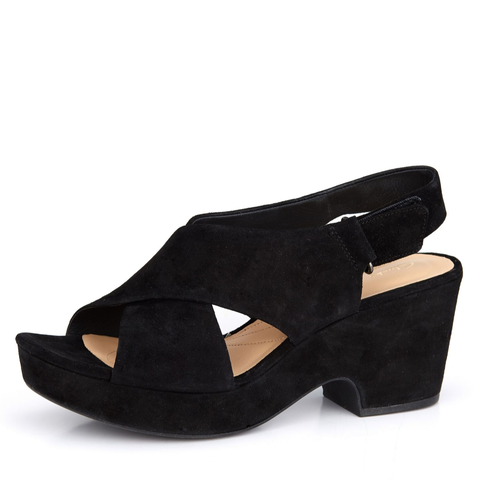 658ea7097a5 Clarks Marista Lara Cross Strap Sandal Standard Fit - QVC UK