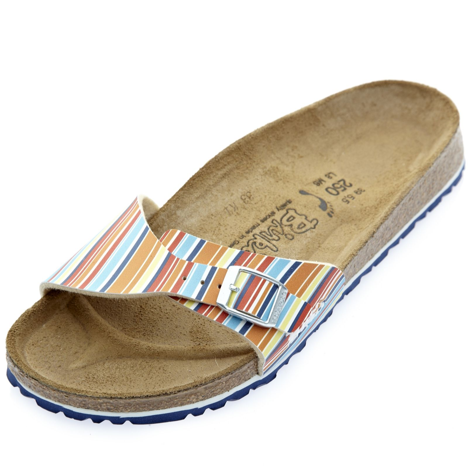 online store 87a78 713cb Birkis by Birkenstock Menorca All Over Stripes Sandal - QVC UK