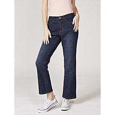 Denim & Co. 5 Pocket Lightly Boot Cut Jeans Petite