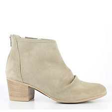 Manas Lipari Ruched Suede Ankle Boot with Back Zip