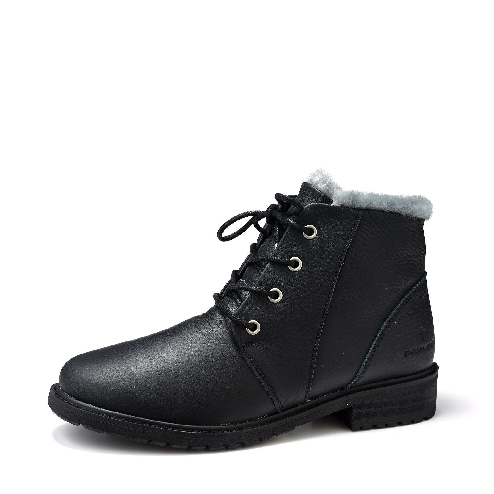 951386a047e Emu Explorer Waterproof Kan Leather & Sheepskin Lace Up Boot - QVC UK