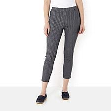 Jacquard Print Slim Leg Ankle Length Trousers by Susan Graver
