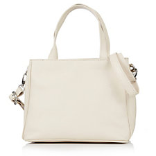 Amanda Lamb Small Leather Tote Bag with Detachable Shoulder Strap