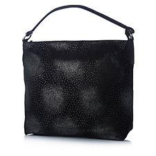 Amanda Lamb Leather Suede Hobo Bag