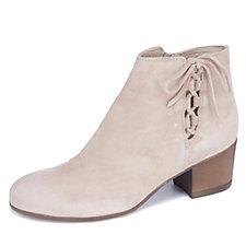 Manas Lipari Suede Tie Detail Mid Heel Ankle Boot