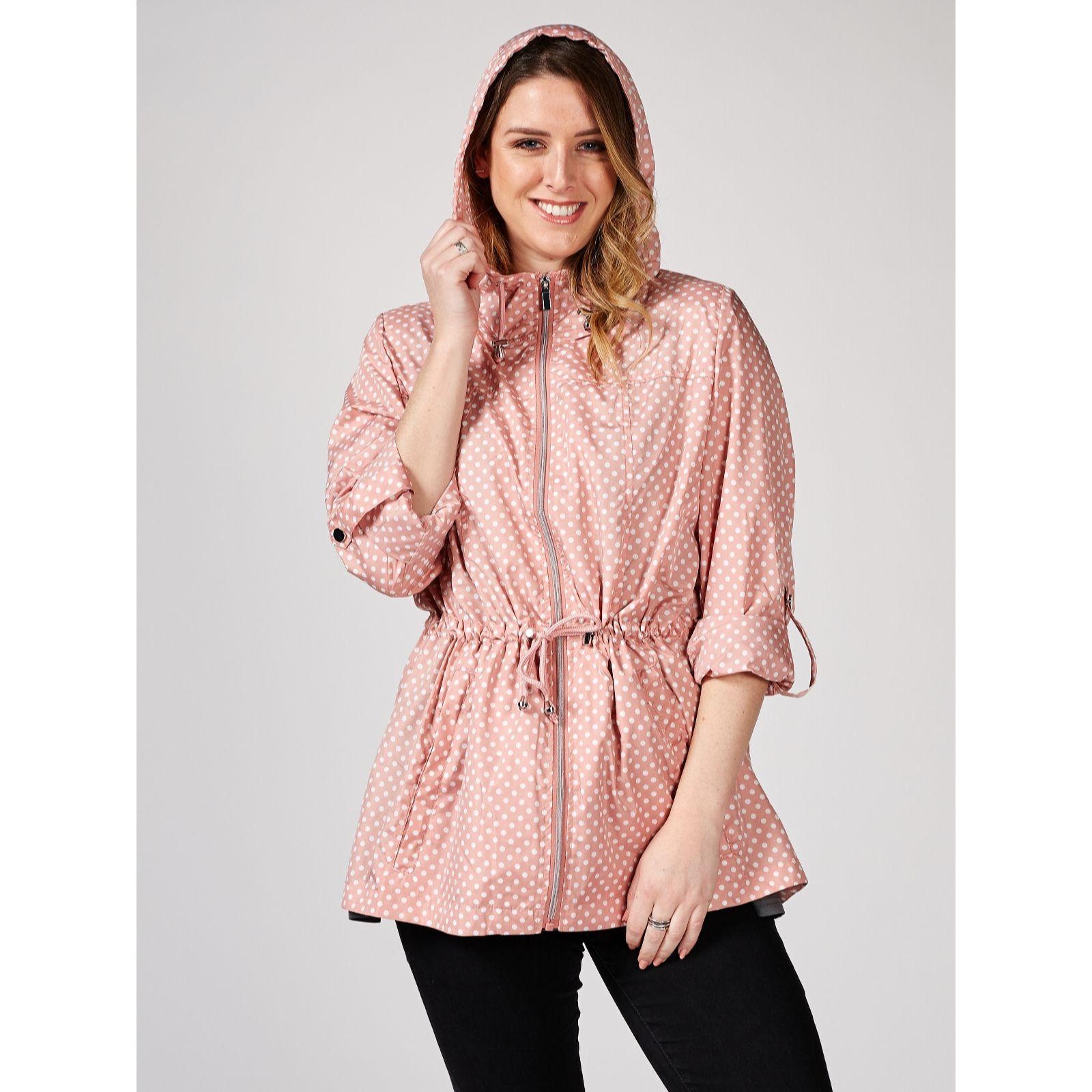 ba25897a60ee Waterproof Hooded Jacket with Long Roll Up Sleeves by Nina Leonard - QVC UK