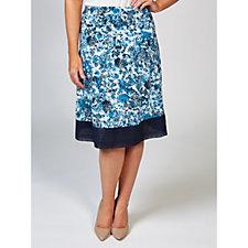 Joe Browns Flattering Contrast Hem Detail Jersey Skirt