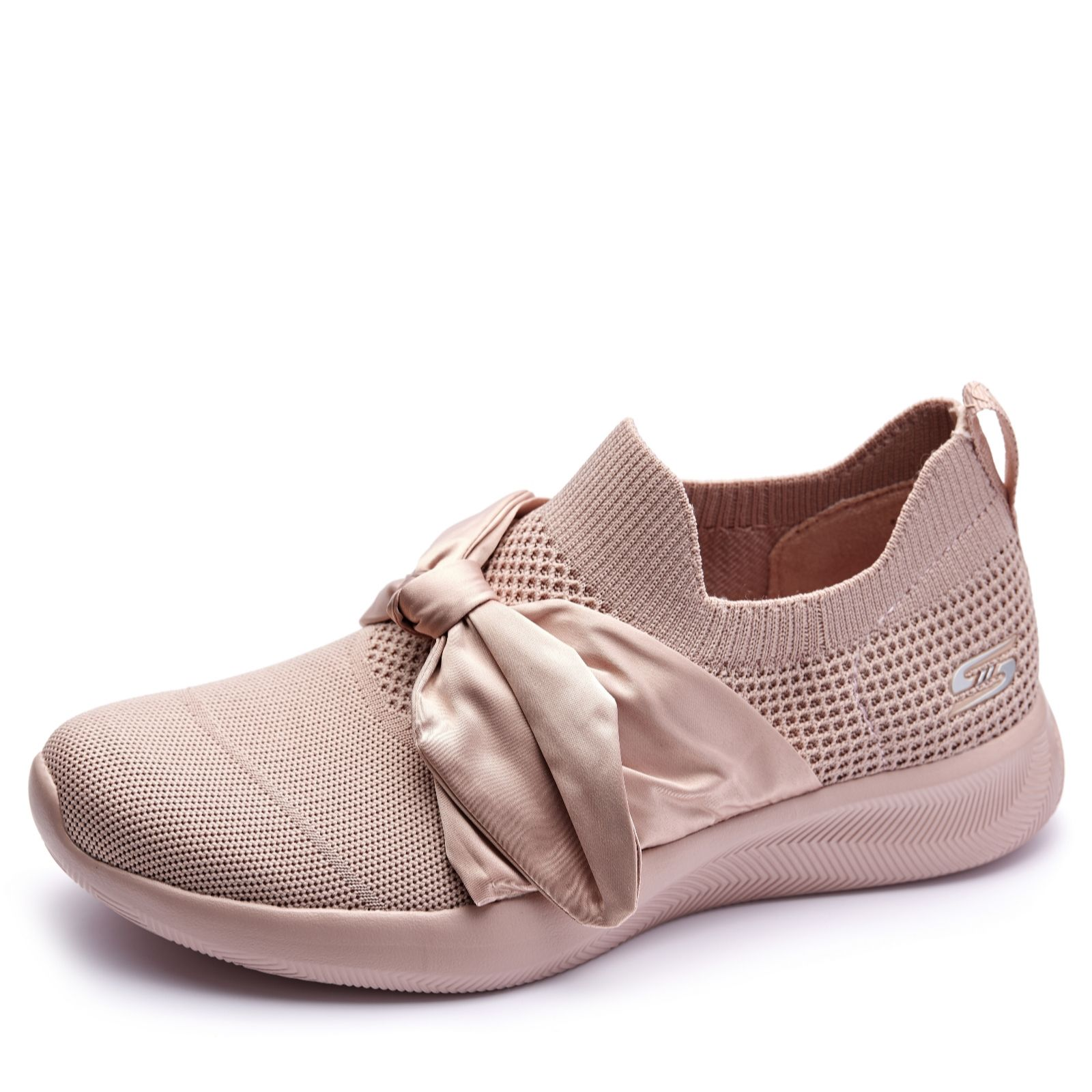 Skechers Bobs Squad 2 Bow Beauty Slip on Trainer QVC UK