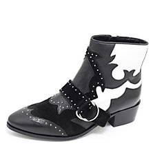 Bronx Western Ankle Boot with Buckle