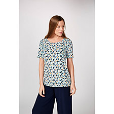 Kim & Co Pelicans Brazil Knit Short Sleeve Top