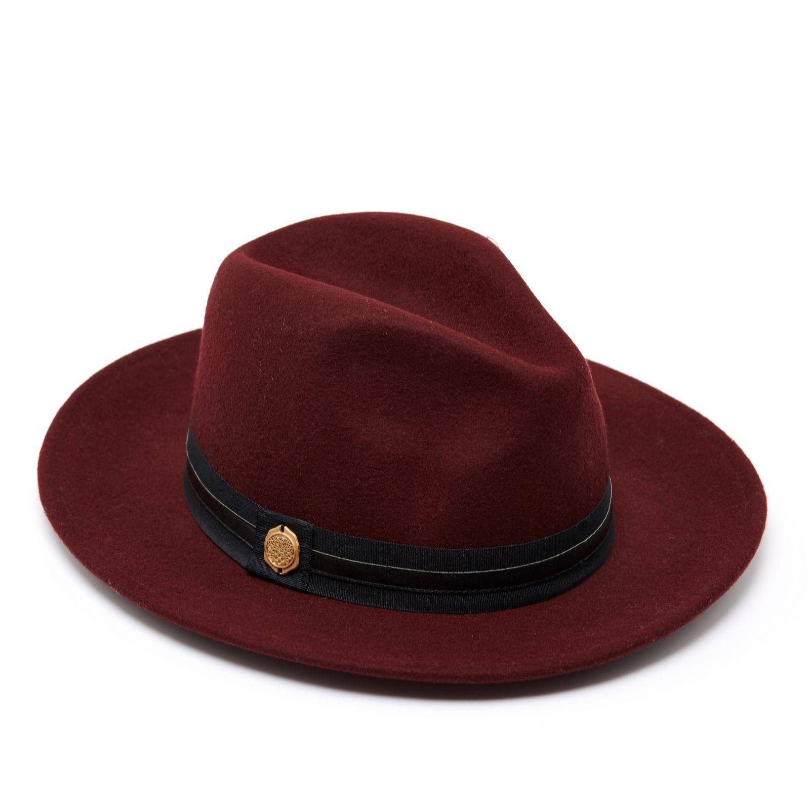 ff0f8ff6a Vince Camuto Banded Panama Hat - QVC UK