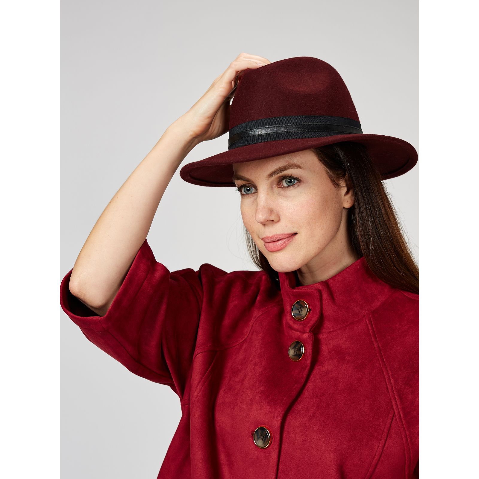 Vince Camuto Banded Panama Hat - QVC UK b93dac0e83ef