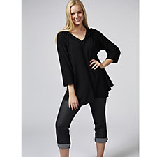 Join Clothes Jersey Dipped Hem Tunic with Hood