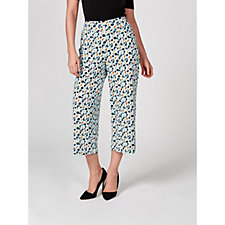 Kim & Co Pelicans Brazil Knit Cropped Trousers with Pockets