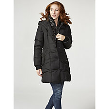 Centigrade Quilted Coat with Panel Detail & Solid Fooler